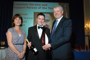 winning the support person of the year at Archant
